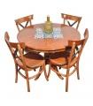 میز ناهارخوری چهار نفره چوب و کاشی 105K